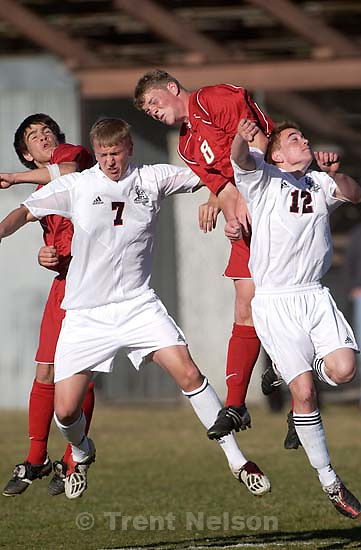 Sandy Alta vs. Viewmont high school boys soccer.<br />