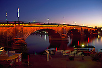 London Bridge in Lake Havasu City at dusk. Lake Havasu City, Arizona.