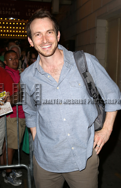 """Conrad Kemp greeting fans at the stage door the after the First Performance of """"Romeo And Juliet"""" On Broadway at the Richard Rodgers Theatre in New York City on 8/24/2013"""