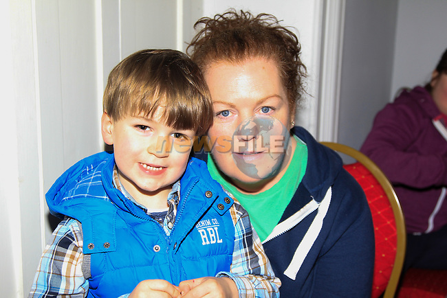 Adam &amp; Sharon Shevlin at the Dunleer Film Club putting on 'Frozen: A Sing Along Version' in Market House Dunleer on Friday 24th January 2015.<br /> Picture:  Thos Caffrey / www.newsfile.ie