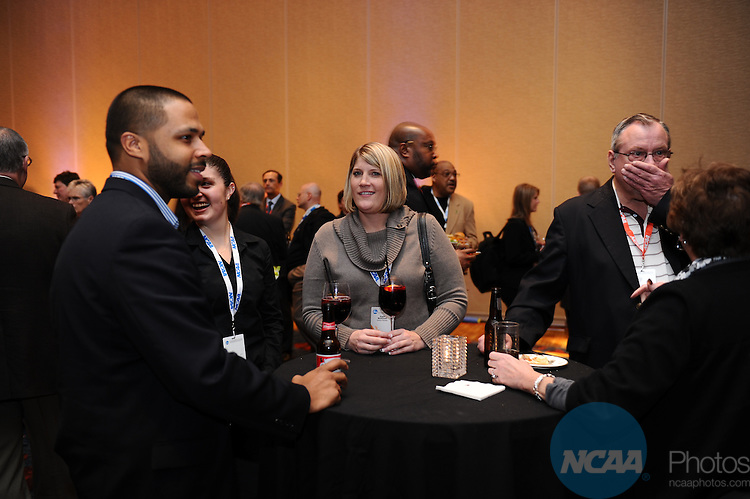 13 JAN 2012: The Delegates reception held during the 2012 NCAA Convention held at the JW Marriott and Indianapolis Convention Center in Indianapolis, IN.  Joshua Duplechian/NCAA Photos.Pictured: Gale Cureton