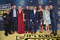 """HOLLYWOOD - SEPTEMBER 24: Danny Devito, David Hornsby, Kaitlin Olson, Rob Mcelhenney, Jill Latiano, Charlie Day, Mary Elizabeth Ellis attend the red carpet premiere event for FXX's """"It's Always Sunny in Philadelphia"""" Season 14 at TCL Chinese 6 Theatres on September 24, 2019 in Hollywood, California. (Photo by Stewart Cook/FXX/PictureGroup)"""