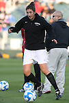 05 December 2008: Stanford's Shira Averbuch. The Notre Dame Fighting Irish defeated the Stanford Cardinal 1-0 at WakeMed Soccer Park in Cary, NC in an NCAA Division I Women's College Cup semifinal game.