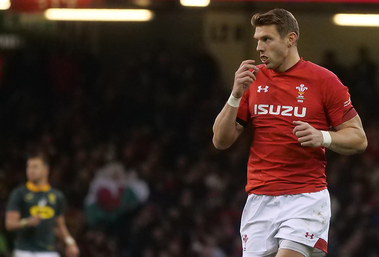 Wales' Dan Biggar during the game <br /> <br /> Photographer Ian Cook/CameraSport<br /> <br /> Under Armour Series Autumn Internationals - Wales v South Africa - Saturday 24th November 2018 - Principality Stadium - Cardiff<br /> <br /> World Copyright © 2018 CameraSport. All rights reserved. 43 Linden Ave. Countesthorpe. Leicester. England. LE8 5PG - Tel: +44 (0) 116 277 4147 - admin@camerasport.com - www.camerasport.com