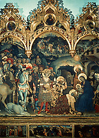 Renaissance Art:  Gentile Da Fabriano (1370-1427)--Adoration of the Magi.   Galleria Uffizi.