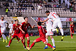 Mehdi Taremi of Iran (R) heads the ball during the AFC Asian Cup UAE 2019 Group D match between Vietnam (VIE) and I.R. Iran (IRN) at Al Nahyan Stadium on 12 January 2019 in Abu Dhabi, United Arab Emirates. Photo by Marcio Rodrigo Machado / Power Sport Images