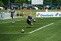 Kansas City, MO - Saturday May 13, 2017:  Catherine Parkhill warming up prior to a regular season National Women's Soccer League (NWSL) match between FC Kansas City and the Portland Thorns FC at Children's Mercy Victory Field.