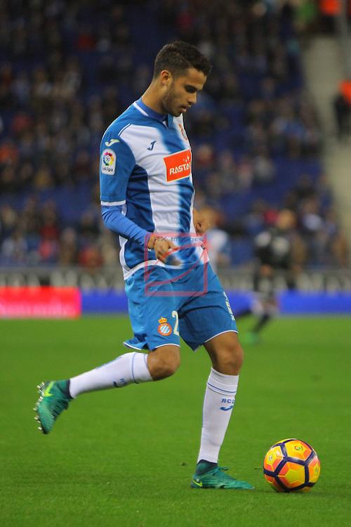 League Santander 2016/2017. Game: 13.<br /> RCD Espanyol vs CD Leganes: 3-0.<br /> Aaron Martin.