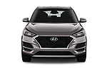 Car photography straight front view of a 2019 Hyundai Tucson SEL 5 Door SUV