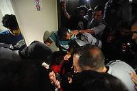 """SAO PAULO, SP, 03.09.2013-Salva de Prata- Confusão durante votação. Salva de prata Rota.<br /> O vereador Coronel Telhada (PSDB) propôs um projeto de decreto legislativo para que a Câmara Municipal de São Paulo conceda a homenagem """"Salva de Prata"""" às Rondas Ostensivas Tobias de Aguiar (Rota). Na justificativa do projeto, Telhada destaca um texto extraído do site da Polícia Militar que cita o processo de formação da Rota, criada em 1970-Adriano Lima / Brazil Photo Press"""