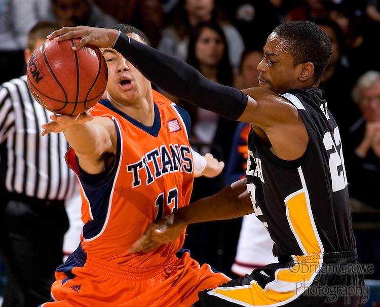 1/19/11, Fullerton Ca.; Titans shock 6-0 Long Beach State 89-87 in front of a ruckus crowd at Famous Titan Gym