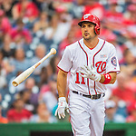 14 May 2016: Washington Nationals first baseman Ryan Zimmerman walks in the 5th inning to load the bases during the first game of a double-header against the Miami Marlins at Nationals Park in Washington, DC. The Nationals defeated the Marlins 6-4 in the afternoon matchup.  Mandatory Credit: Ed Wolfstein Photo *** RAW (NEF) Image File Available ***