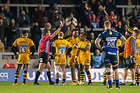 8th November 2019; AJ Bell Stadium, Salford, Lancashire, England; English Premiership Rugby, Sale Sharks versus Coventry Wasps; Paolo Odogwu of Wasps receives a red card - Editorial Use
