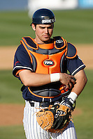 John Curtis of the Cal State Fullerton Titans during a game against the Arizona Wildcats at Goodwin Field on February 18, 2007 in Fullerton, California. (Larry Goren/Four Seam Images)