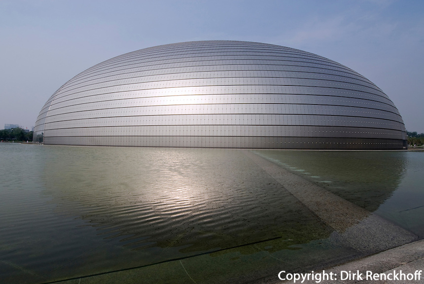 Nationaltheater (National Grand Theatre) erbaut von dem franzosischen Architekten Paul Andreu, Peking (Beijing), China