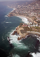 Aerial of Emerald Bay Laguna Beach