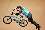 Kevin Robinson competes in the BMX Freestyle Vert finals during X-Games 12 in Los Angeles, California on August 4, 2006.