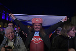 Team Katusha Alpecin fan at the Teams Presentation held in Piazza Maggiore Bologna before the start of the 2019 Giro d'Italia, Bologna, Italy. 9th May 2019.<br /> Picture: Marco Alpozzi/LaPresse | Cyclefile<br /> <br /> All photos usage must carry mandatory copyright credit (&copy; Cyclefile | Marco Alpozzi/LaPresse)
