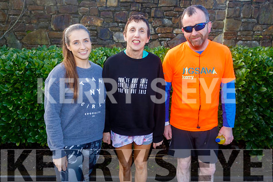 Meave and Ann O'Leary and Richard McBride from Tralee ready to run the 10miler and 5k Fundraising run for the Kerry Hospice on Sunday.