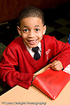 Parochial School Bronx New York  Kindergarten portrait of boy vertical