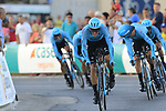Astana Pro Team in action during Stage 1 of La Vuelta 2019, a team time trial running 13.4km from Salinas de Torrevieja to Torrevieja, Spain. 24th August 2019.<br /> Picture: Eoin Clarke | Cyclefile<br /> <br /> All photos usage must carry mandatory copyright credit (© Cyclefile | Eoin Clarke)