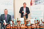 Dr. Neil Maher, B.Sc.(Hons.)Ph.D. and Sheamus Lynch displaying their 100% Natural Body Care Botanical & Seaweed products at their factory in Keltic Business Park, Listowel.