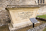 Tomb of Nevil Maskelyne Astronomer Royal at the Royal Observatory for 46 years, churchyard at Purton, Wiltshire, England, UK