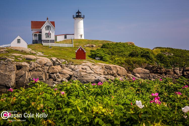 Cape Neddick (Nubble) Light, 1879, York, Cape Neddick, Southern Maine Coast, ME