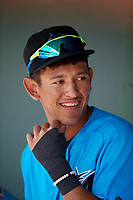Miami Marlins Cristhian Rodriguez (76) during an Instructional League game against the Washington Nationals on September 25, 2019 at Roger Dean Chevrolet Stadium in Jupiter, Florida.  (Mike Janes/Four Seam Images)