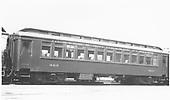 #323 closed vestibule coach.  Built in 1887 by D&amp;RG.  Modernized in July 1937.<br /> D&amp;RGW  Durango, CO  Taken by Ward, Bert H. - 7/8/1946