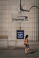 A CapitalOne branch is pictured in New York City, NY Monday August 1, 2011. Capital One Financial Corp. (NYSE: COF) is a U.S. based bank holding company specializing in credit cards, home loans, auto loans, banking, and savings products.