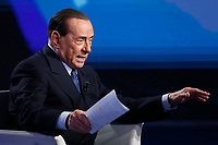 Silvio Berlusconi<br /> Rome February 14th 2019. Silvio Berlusconi appears as a guest on the Tv show Porta a Porta.<br /> Foto Samantha Zucchi Insidefoto