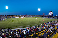 Sahlen's Stadium during first half action. The Western New York Flash defeated Sky Blue FC 2-0 during a National Women's Soccer League (NWSL) semifinal match at Sahlen's Stadium in Rochester, NY, on August 24, 2013.