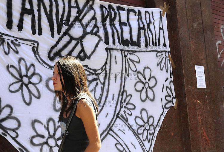 Roma, 7 settembre 2009.Protesta degli insegnanti precari davanti il provveditorato agli studi.Precarious teachers protest