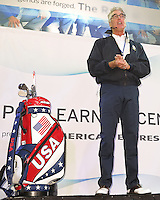 26 SEP 12  Mark Bradley conducts a golf seminar at The 39th Ryder Cup at The Medinah Country Club in Medinah, Illinois.