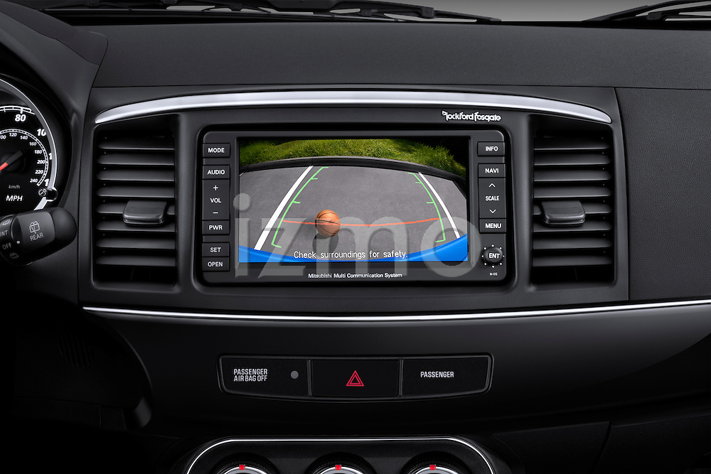 Navigation screen detail on a 2012 Mitsubishi Lancer Sportback GT