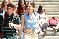 "July 09, 2012 Hailee Steinfeld shooting on location for the new VH-1 film, ""Can a Song Save Your Life ?"" in New York City. © RW/MediaPunch Inc."