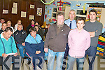 DRUG INITIATIVE: The residents of Shannakill attending the Tralee Community Drug Initiative information meeting at Shannakill Resource Centre on Monday standing l-r: Jerry Riordan (Chairperson Estate Management), Sergeant Seamus Moriarty (Community Garda), Pat Hannafin (Tralee Community Drug Initiative) and Garda Owen Donovan (Kerry Drug Unit).