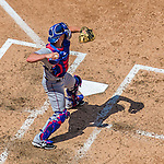 1 June 2014: Texas Rangers catcher Chris Gimenez in action against the Washington Nationals at Nationals Park in Washington, DC. The Rangers shut out the Nationals 2-0 to salvage the third the third game of their 3-game inter-league series. Mandatory Credit: Ed Wolfstein Photo *** RAW (NEF) Image File Available ***