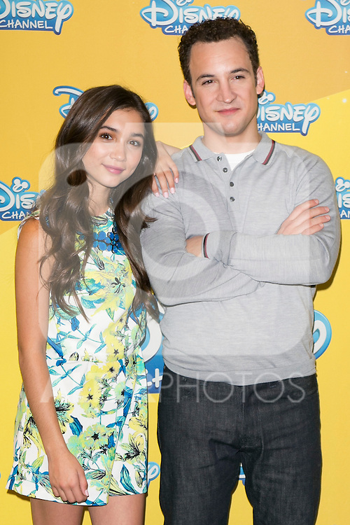 "Ben Savage and Rowan Blanchard attend the presentation of the Disney Series ""Girl Meets World"" at the Me Hotel in Madrid, Spain. July 21, 2014. (ALTERPHOTOS/Carlos Dafonte)"