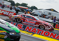 Sep 4, 2017; Clermont, IN, USA; NHRA pro stock driver Greg Anderson during the US Nationals at Lucas Oil Raceway. Mandatory Credit: Mark J. Rebilas-USA TODAY Sports