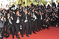CANNES, FRANCE - MAY 12: Photographers at 'Girls Of The Sun (Les Filles Du Soleil)' screening during the 71st annual Cannes Film Festival at Palais des Festivals on May 12, 2018 in Cannes, France.<br /> CAP/PL<br /> &copy;Phil Loftus/Capital Pictures