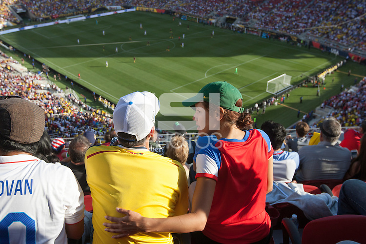 Santa Clara, CA - Friday June 3, 2016: Fans watch the game. USA played Colombia in the opening match of the Copa América Centenario game at Levi's Stadium.