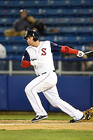 Salem Red Sox first baseman David Chester (36) during a game against the Lynchburg Hillcats on April 25, 2014 at Lewisgale Field in Salem, Virginia.  Salem defeated Lynchburg 10-0.  (Mike Janes/Four Seam Images)