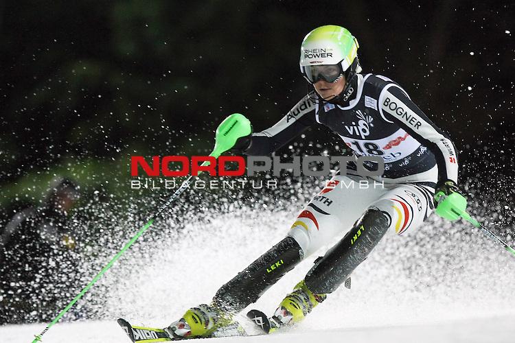 03.01.2012., Sljeme, Zagreb, Croatia - 2nd run of Audi FIS Ski World Cup Vip Snow Queen Trophy ladies' slalom race. <br /> Fanny Chmelar.<br /> <br /> Foto &copy;  nph / PIXSELL / Sajin Strukic