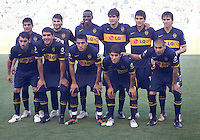 Boca Juniors starting eleven. The LA Galaxy defeated Boca Juniors 1-0 at Home Depot Center stadium in Carson, California on Sunday May 23, 2010.  .