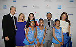Terry & Tina Lundgren, skaters with 3 honorees Michelle Kwan, Jeff Tweedy & Dylan Lauren at Skating with the Stars - a benefit gala for Figure Skating in Harlem in its 17th year is celebrated with many US, World and Olympic Skaters honoring Michelle Kwan and Jeff Tweedy on April 7, 2014 at Trump Rink, Central Park, New York City, New York. (Photo by Sue Coflin/Max Photos)