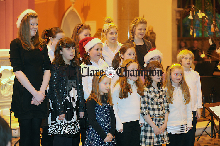 The choir begins its performance during the Clare Music Makers' Christmas Concert at the Friary in Ennis. Photograph by Declan Monaghan