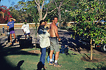David & Japanese Woman Who Scratched David While Falling Out Of Raft Victoria Falls