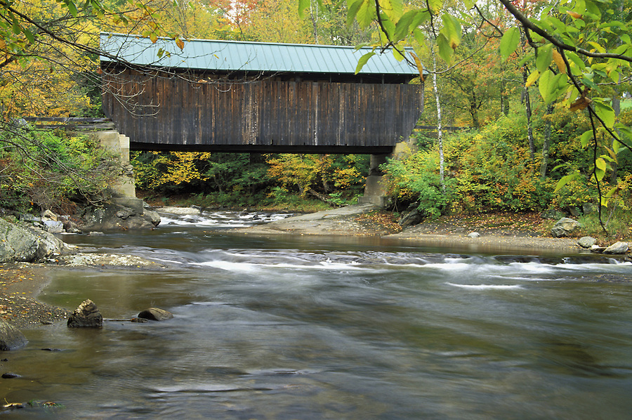 Jaynes Bridge spanning the North Branch of the Lamoille River, Waterville, Lamoille County, VT